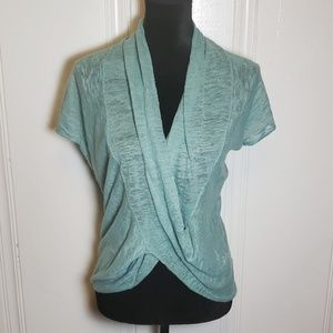 Margaret O'Leary Linen Mint Crossover Top